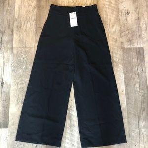 NWT Zara Woman High-Waisted Crop Pants Size Small